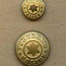Portland Police uniform buttons vintage buttons