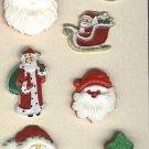 Santa  buttons metal plastic