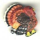 Realistic turkey button..plastic, modern button