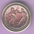 Punchinello and Harlequin button antique theatre button