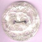 Crackle button transparent clear color PLASTIC vintage button