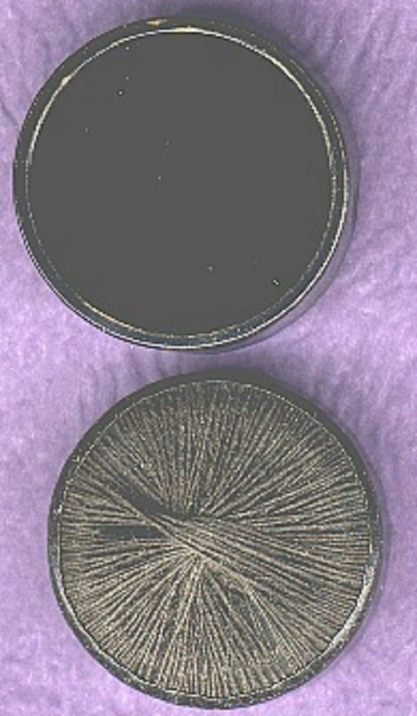 Threadback drum button antique victorian button