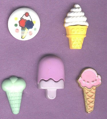 Ice  Cream Cones and ice cream bar buttons