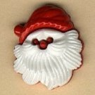 Santa face button realistic modern snap-together no shank involvement