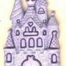 Castle button..realistic modern snap-together, lavender plastic button