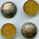 4 real coin buttons vintage buttons