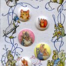Squirrel Nutkin and other Beatrix Potter pictorial buttons