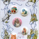 Benjamin Bunny and other Beatrix Potter pictorial buttons