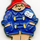 Paddington Bear button handpainted enameled brass