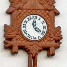 Cuckoo Clock button modern realistic snap-together plastic button