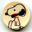 Snoopy button peanuts cartoon character modern wood button