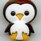 Penguin button realistic modern plastic snap-together button