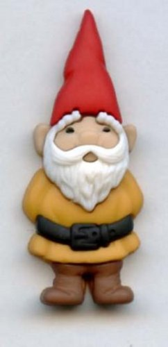 Realistic Gnome button modern snap-together plastic gold color button