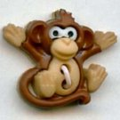 Monkey button realistic modern plastic sew-through snap-together button