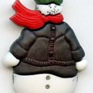 Snowman button modern realistic snap-together plastic button