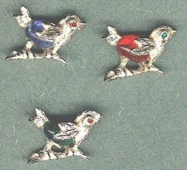 Birds cupids scatter pins vintage