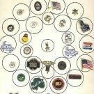 Vintage card of  scatter pins