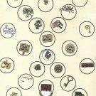 Vintage scatter pins