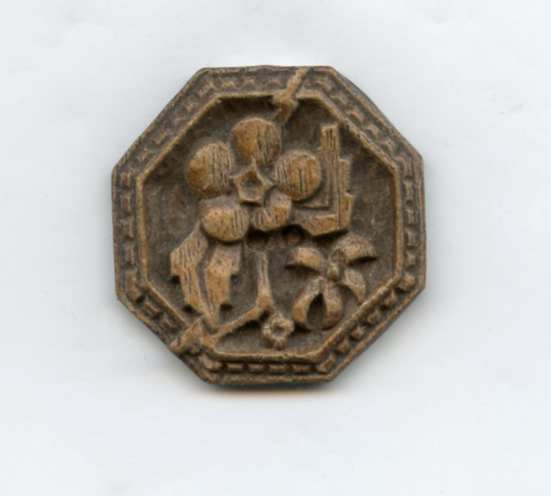 Syroco/Burwood  button floral shape large old button