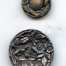 Salamanders and Lizard vintage metal buttons