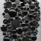 Large group of black glass buttons antique and vintage buttons