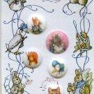 5 Beatrix Potter pictorial plastic buttons