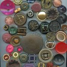 Celluloid and other plastic buttons 2 each different images