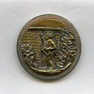 Now for it or Chase of Pleasure pictorial antique large brass button