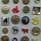 Horse theme vintage buttons