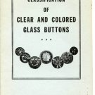 2 National Button Society Classification of Clear and Colored Glass Buttons booklets