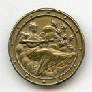 Women Playing a Mandolin button antique brass button
