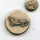 2 old time car buttons vintage metal buttons