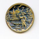The Trumpeter of Sackingen pictorial button large antique button