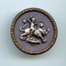 Satyr Riding a Lion button large mythology antique button