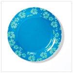 Blue Hawaiian Melamine Plates (36680)