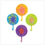 Abstract Flower Hooks (41214)