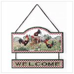 Rooster Welcome Sign (34105)