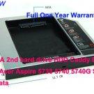 SATA 2nd hard drive HDD Caddy Bay For Acer Aspire 5738 5740 5740G Sata to Sata