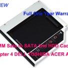 9.5MM Sata to SATA 2nd HDD Caddy Adapter 4 DELL TOSHIBA ACER ASUS HP