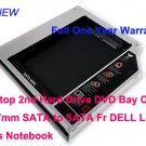 Laptop 2nd Hard Drive DVD Bay Caddy 12.7mm SATA to SATA Fr DELL Laptops Notebook