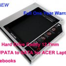 2nd Hard Drive Caddy 12.7mm IDE/PATA to SATA for ACER Laptops Notebooks