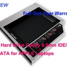 2nd Hard Drive Caddy 9.5mm IDE/PATA to SATA for APPLE Laptops