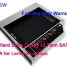 2nd Hard Drive Caddy 12.7mm SATA to SATA for Lenovo Laptops