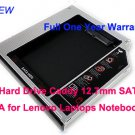 2nd Hard Drive Caddy 12.7mm SATA to SATA for Lenovo Laptops Notebooks