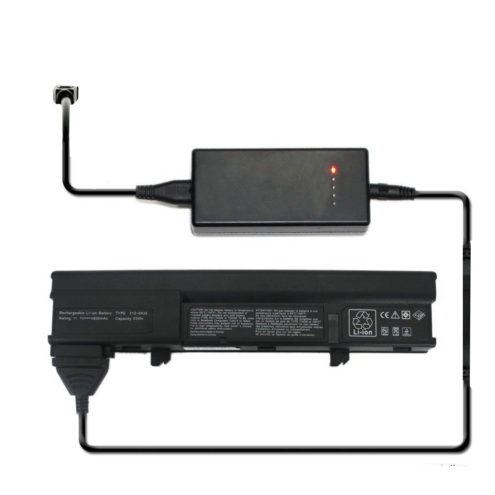 External Laptop Battery Charger for Dell 312-0435 312-0436 451-10356 451-10357 451-10370 451-10371