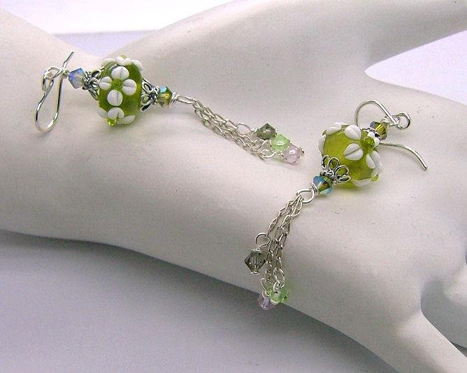 Moxie ~ Lampwork Earrings - 925