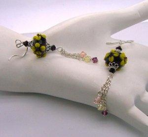 Wine Moxie ~ Lampwork Earrings - 925 silver
