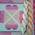 Hand Painted Needlepoint Canvas--Orange Hearts--KIT