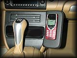986 Telephone Console Real Leather - Black