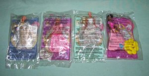 McDonalds Barbies 1996 Lot of 4  #BR9604A
